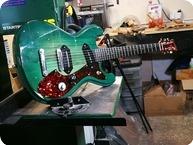 T.P.Customs Guitars-Meteorite Type I-2018-Aged Green Burst