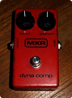Mxr Dyna Comp Block Logo 1981 Red