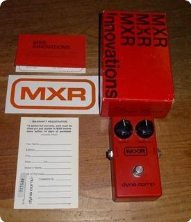 Mxr Dyna Comp 1977 Red