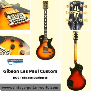 Gibson Les Paul Custom 1979 Tobacco Sunburst