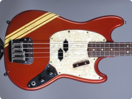 Fender Mustang Competition Bass 1973 Candy Apple Red Competition Red