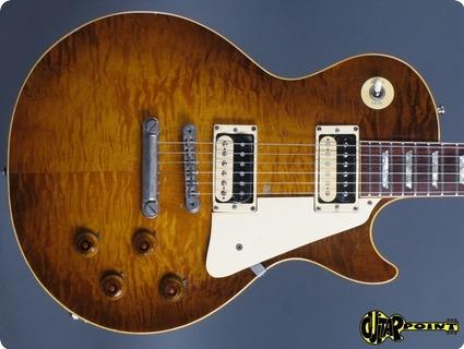 Gibson Les Paul Standard Flametop Reissue 1982 Tobacco Burst