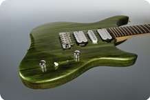 M.O.V. Guitars Viola SP24 FlatTop Green Drip Metallic