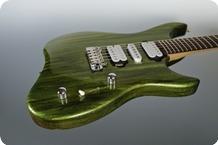M.O.V. Guitars Viola SP24 FlatTop Green Drip Metallic