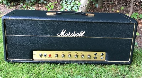 Marshall Jmp 50 Head With Laydown Mains Transformer  1973 Black