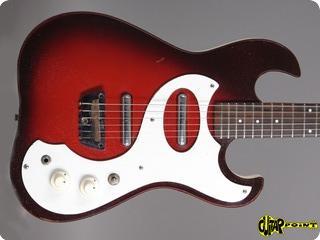 Silvertone 1457 Amp In Case Guitar 1966 Redburst