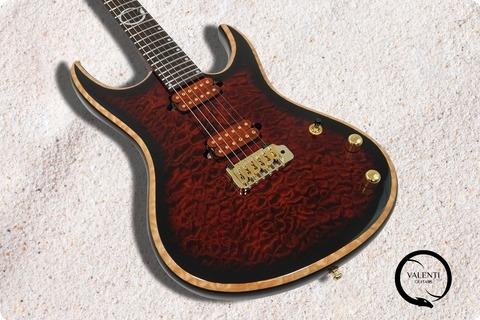 Valenti Guitars Nebula #030 Private Stock Trans Blood Red