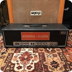 Simms Watts Vintage 1970s Simms Watts AP 100 100w Guitar Amplifier Head