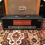 Simms Watts Vintage 1970s Simms Watts AP 100 100w Guitar Amplifier Head