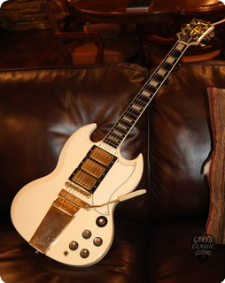 Gibson Sg Les Paul Custom (gie1053)  1963 Polaris White
