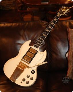 Gibson Sg Les Paul Custom (gie1053)  1963 Polaris White