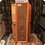 Matamp Vintage 1960s Orange Matamp 4x12 Original PA Column Cabinet