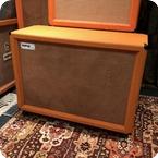 Matamp Vintage 1968 Orange Matamp 4x12 Original Offset Cabinet Fane