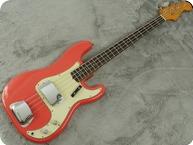 Fender Precision Bass 1963 Fiesta Red Refin