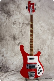Rickenbacker 4001 Stereo Bass 1986 Metallic Red