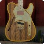 Paoletti Guitars Nancy Thinline 2018 Natural Rustic Yellow