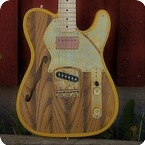 Paoletti Guitars Nancy Thinline 2018 Natural Rustic Yellow