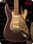 Paoletti Guitars Stratospheric Leather Top SSS 2019 Brown Brown Leather Top