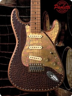 Paoletti Guitars Stratospheric Leather Top Sss 2019 Brown /brown Leather Top