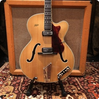 Hofner Vintage 1962 Hofner President Natural Blonde Electric Guitar Ohsc