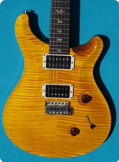 Paul Reed Smith Prs Custom 24 Ten Top 2011 Ambra Yellow Flam Top