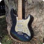 Fender-Stratocaster-1990-Black Holoflake
