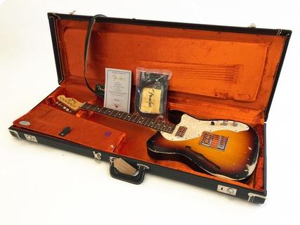 Fender  Fender Telecaster Thinline – Custom Shop Heavy Relic – Tv Jones Mod 2007 Sunburst 2007 Sunburst