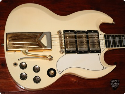Gibson Sg Les Paul Custom  (gie1133)  1961 Polaris White