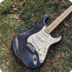 Fender-Custom Shop Glitter Stratocaster-1990-Black Holoflake