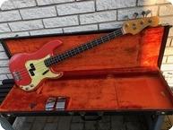 Fender-Precision Bass-1964-Fiesta Red