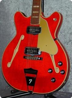 Fender Coronado Ii. 1967 Original Translucent Red.