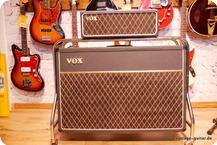 Vox-AC-50 Flat W. Cabinet + Surround Stand-1964-Black Tolex