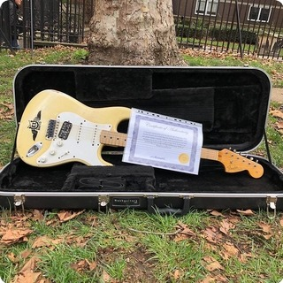 Fender Stratocaster Ex Billie Joe Armstrong Green Day 1970 Olympic White