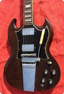 Gibson Sg Standard Maestro Lira Vibrola 1968 Walnut