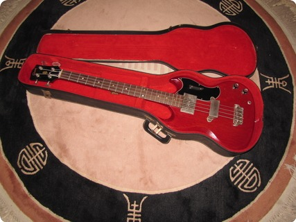 Gibson Eb 0 1965 Cherry Red (unfaded)