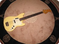 Fender Musicmaster Bass 1975 Olympic White