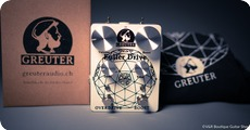 Greuter Audio Fuller Drive With Boost Black On White