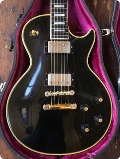 Gibson Les Paul Custom Ex Billy Duffy Of The Cult 1969 Black Custom Colour