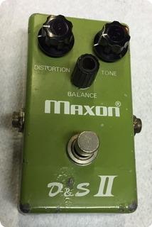 Maxon D&s Ii Distortion Sustainer 1978 Green Box