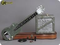 Magnatone Lapsteel 1950 Green Perloid