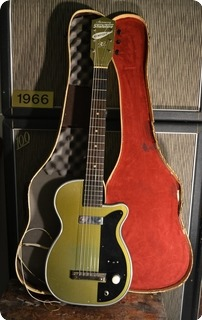 Harmony Guitars Stratotone Newport 1954 Green Metallic