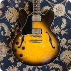 Gibson-ES335 Left Handed-1995-Sunburst