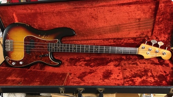 Fender Precision Bass 1963 3 Tone Sunburst