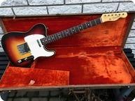 Fender-Telecaster Custom-1963-3 Tone Sunburst