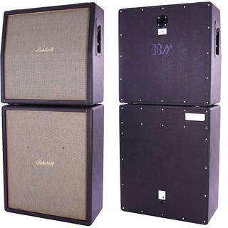 Marshall Custom 4x12 Cabinets Ex Jack Bruce Cream 1989 Black
