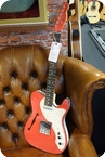 Fender Fender American 2 Tone Telecaster Thinline Fiesta Red White Limited Edition 2020 Fiesta Red White