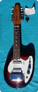 Vox Mando Guitar 12 Strings Mandolin 1965 Sunburst