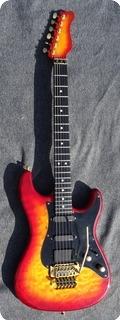 Valley Arts California Pro Steve Lukather 1990 Cherry Sunburst Curly Maple