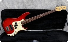 Fender Precision Deluxe 1996 Trans Red