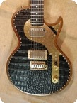 Paoletti Guitars Leather HB Jr. Tremolo 2019 Brown Black Leather